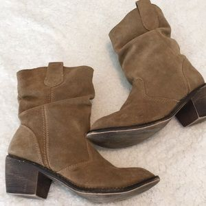 Steve Madden P Turner Slouch Western Boot Brown